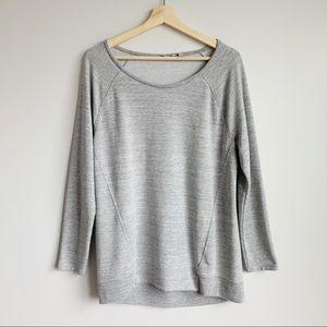 Athleta Grey Pullover Sweater Cozy Soft Size M